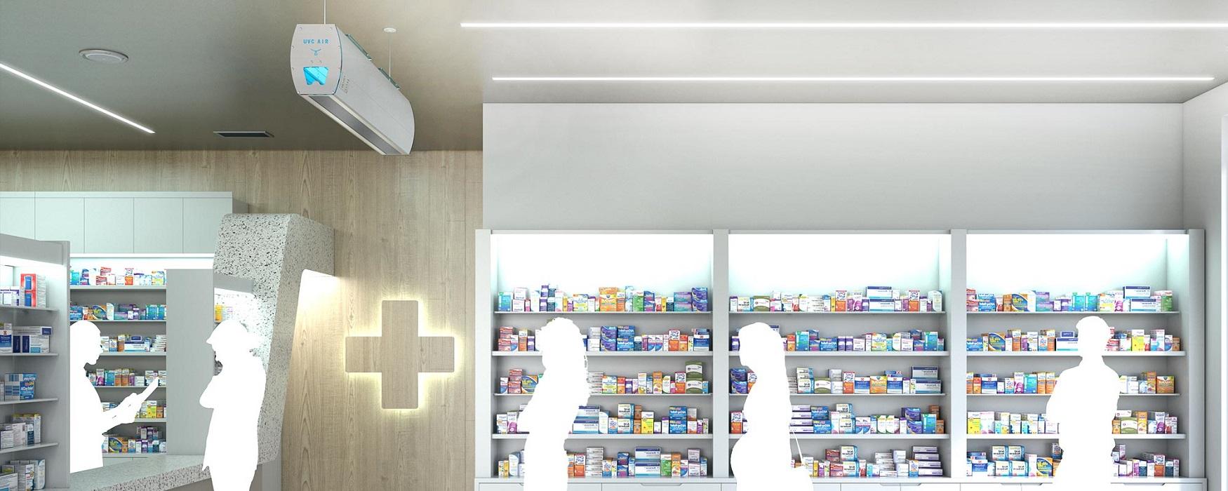 uv-c-air purificatore d'aria per negozi farmacie ufficio - riganelli