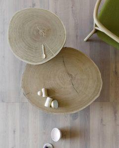 porcino tavolino in legno naturale -riganelli