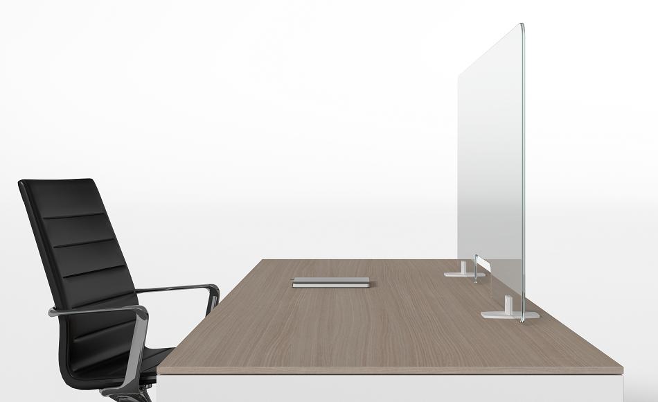 Flexi divisorio in plexiglass trasparente anti covid sicurezza in ufficio -riganelli