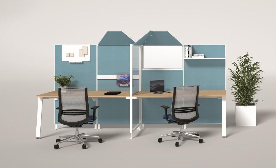 Kubick paretina divisoria accessoriabile per uffficio -riganelli