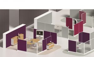 Kubick paretine divisorie per ufficio open space- riganelli