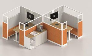Kubick paretine modulari divisorie per configurazione uffici -riganelli