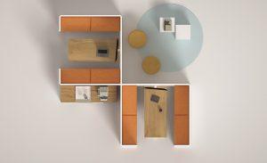 kubick paretine divisorie per ufficio open space configurabile - riganelli
