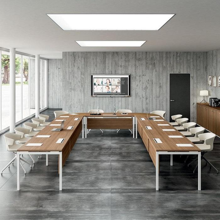 Tavolo a ferro di cavallo per sala riunione conferenze -riganelli