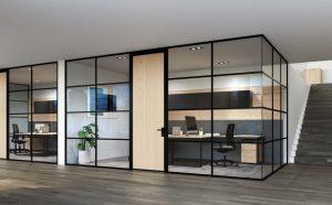 installazione pareti divisorie in vetro - riganelli