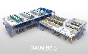 scaffalatura industriale soppalco grande portata dalmine logistic solutions -riganelli rivenditore