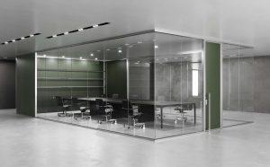 K82 parete vetrata divisoria per ufficio open space- riganelli