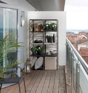 socrate outdoor scaffale per esterni terrazza e veranda -riganelli