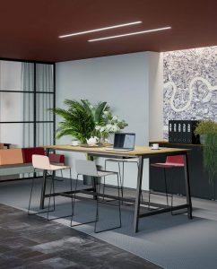 Tavolo scrivania alto per condivisione e meeting - riganelli