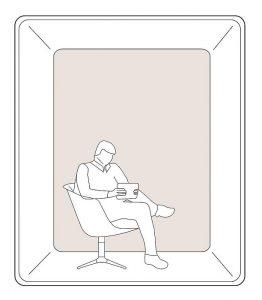 phone booth per isolarsi in ufficio -riganelli