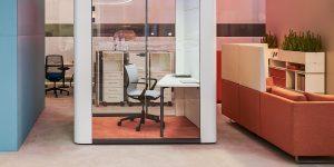 se cube phone booth postazione singola in ufficio -riganelli