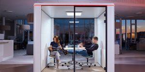 secube cabina phone booth acusticamente isolata per ufficio - riganelli