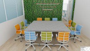 Riganelli progettazione e realizzazione uffici arredi sala riunione e verde verticale