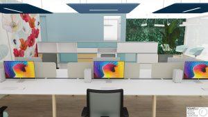 Riganelli realizzazione uffici coworking e verde verticale stabilizzato